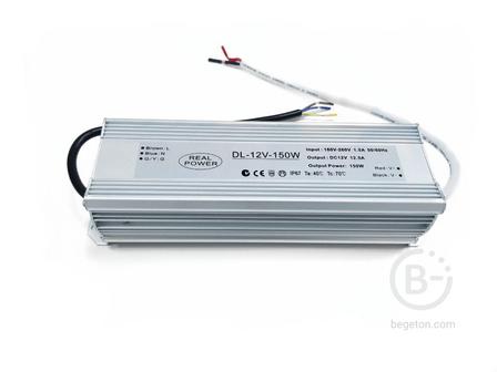 Блок питания 150W, 12V, IP67 SLIM