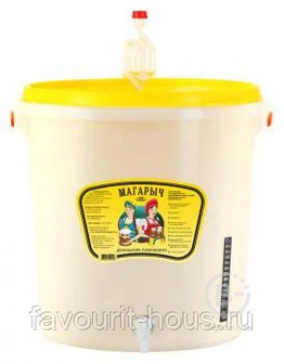 Домашняя пивоварня 32л, в сборе, прочный полиэтилен, Гидрозатвор, ЖК-термометр, Краник