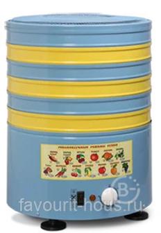 Сушилка электрическая для овощей и фруктов ЭЛВИН СУ-1/,СУ-1У 6 уровней, 30 л/60л, круглая, металл