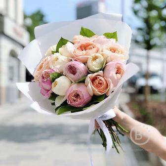 Букет из садовых роз №2