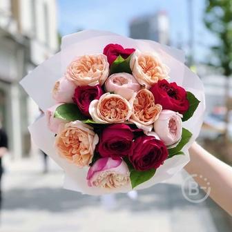 Букет из садовых роз №3