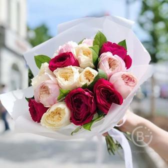 Букет из садовых роз №1