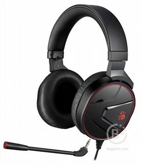 Наушники с микрофоном A4 Bloody G600i черный мониторные USB оголовье