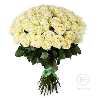"""Букет из 51 розы """"Белые"""""""