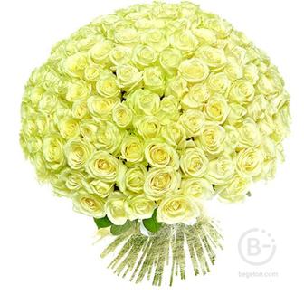 """Букет из 201 розы """"Белые"""" (60 см)"""