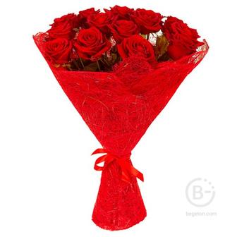 Букет из 15 роз (60 см)