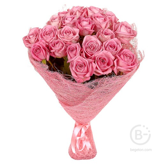 """Букет из 25 роз """"Розовые"""""""