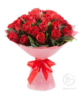 """Букет из 25 роз """"Красные"""""""