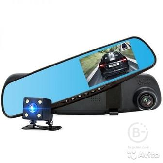 Автовидеорегистратор зеркало + камера