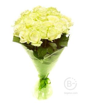 """Букет из 25 роз """"Белые"""""""