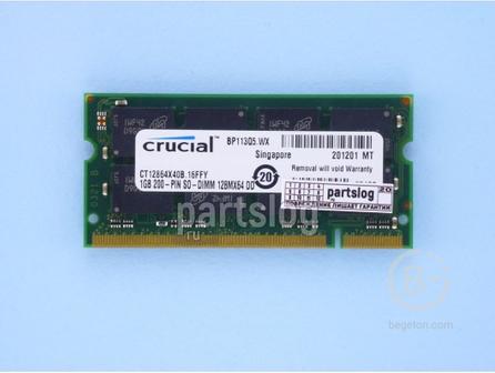 Модуль памяти SO-DIMM 1Gb Crucial DDR 400