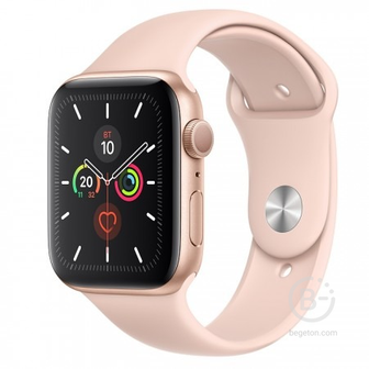 Apple Watch Series 5 GPS 44mm Gold with Pink Sand Sport Band