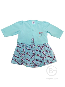 Комплект для девочки (кофта, боди-платье)