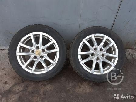 Диски литые штатные с резиной Toyota Corolla 150