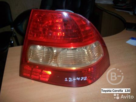 Фонарь на Toyota Corolla (Тойота Королла) 120