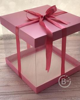 Коробка для подарка и торта-золото 235*235*200