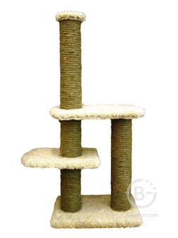 Кошачьи комплексы и когтеточки на подставке