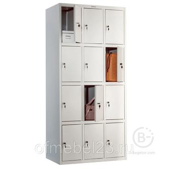 Шкаф для раздевалки, камеры хранения, сумочница, локер ПРАКТИК LS-34