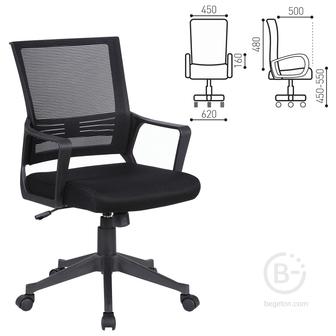 Кресло BRABIX «Balance MG-320», с подлокотниками, черное