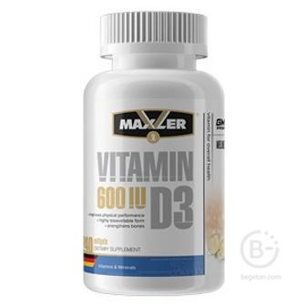 Витамин Д Maxler  Vitamin D3 600IU