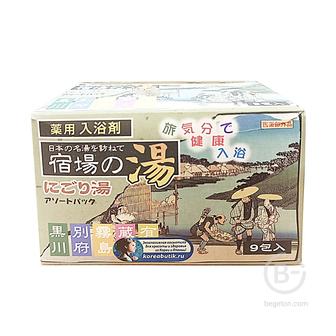 Соль для ванны Nihon Bath Salts assorted pack ND, 5 природных ароматов