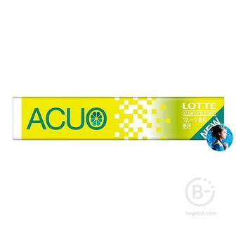 Жевательная резинка Лимонная мята Lotte ACUO Clear Citrus Mint