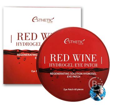 Гидрогелевые патчи для кожи вокруг глаз с красным вином ESTHETIC HOUSE Red Wine Hydrogel Eyepatch