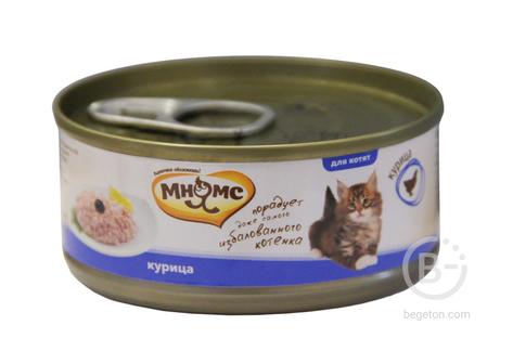 Корм для кошек консервы для котят всех пород, курица (70 гр)