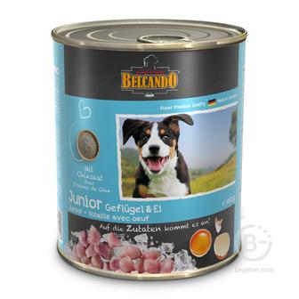 Корм для собак консервы для щенков всех пород, птица с яйцом (800 гр)