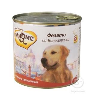 Корм для собак Фегато по-венециански для крупных пород собак (телячья печень с пряностями) (600 гр)