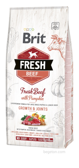 Сухой корм для собак корм для щенков крупных пород, говядина и тыква (12 кг)