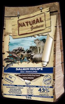 Корм для собак гипоаллергенный корм для взрослых собак средних и крупных пород, чувствительное пищеварение, лосось (2 кг)