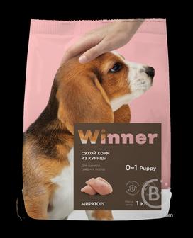 Корм для собак корм для щенков средних пород, курица (1 кг)
