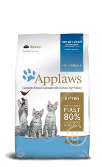 Корм для кошек корм для котят всех пород, беззерновой, курица и овощи (2 кг)