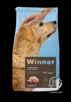 Корм для собак корм для взрослых собак крупных пород, курица (3 кг)
