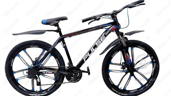 Велосипед PULSE 4011L 26 черный/синий/красный