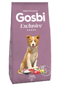 Корм для собак Exclusive корм для щенков средних пород, ягненок (3 кг)