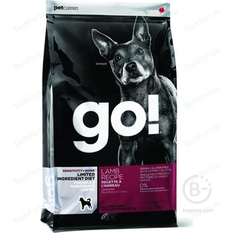 Корм для собак корм для щенков и взрослых собак всех пород, чувствительное пищеварение, ягненок (2,72   кг)