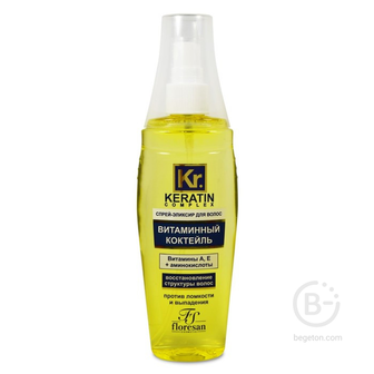 Флоресан Keratin-Complex Спрей-эликсир для волос Витаминный коктейль 135 мл