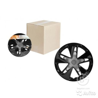 Колпаки колесные 16 дюймов карбон 2шт awcc-16-05
