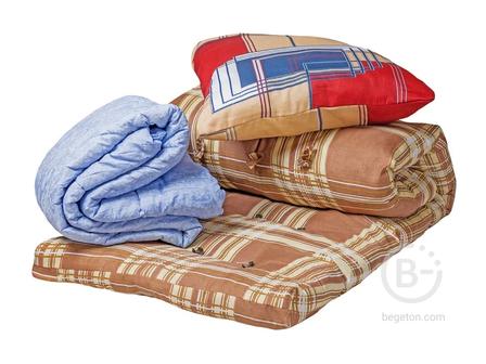 Спальный комплект для рабочих (матрас, подушка и одеяло) Эконом (700)