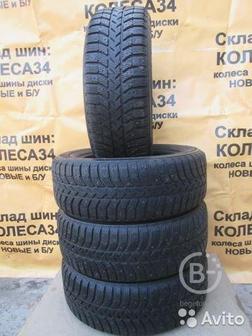 Шины зимние R15 195 60 Bridgestone 4шт шипы