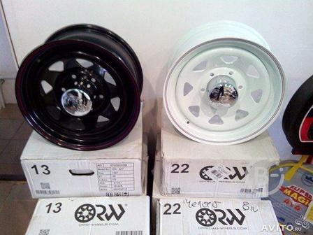 Диски штамповки ORW цвет черны и белый