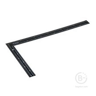 Угольник 300мм стальной (черный)