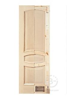 Двери из массива сосны и дуба покрытые натуральным шпоном
