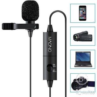 Петличный микрофон для видеокамер и смартфонов