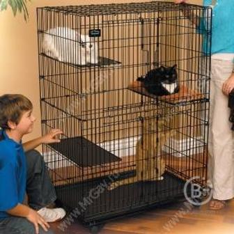 Клетка Midwest Cat Playpens 89,5 см*59 см*120,6 см - 2 двери, черная