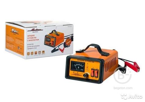 Зарядное устройство для акб 0-10А 6В/12В амперметр