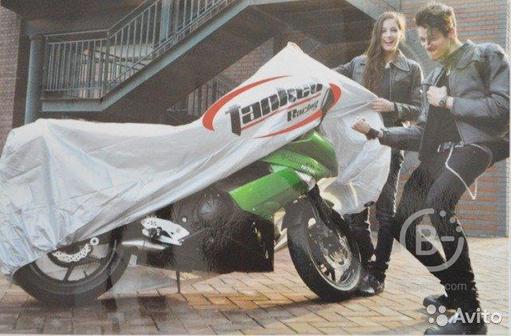 Чехол на мотоцикл Tanked белый