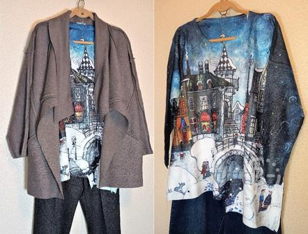 Яркий дизайнерский блузон бархатный хлопок по 56